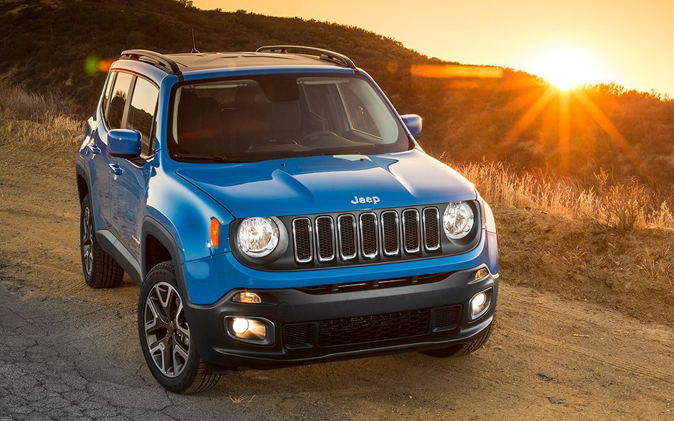 Blue 2015 Jeep Renegade Exterior