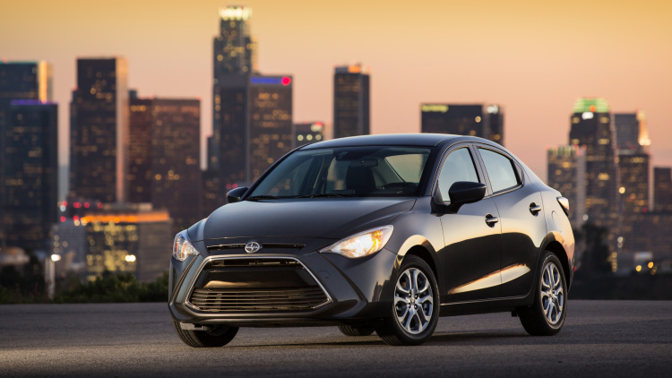 Grey Scion iA With City Background