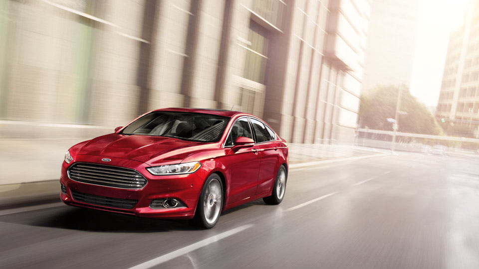 2016 Ford Fusion In Red