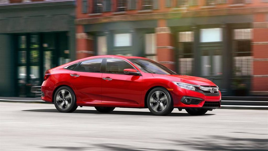 2016 Honda Civic Exterior in Red