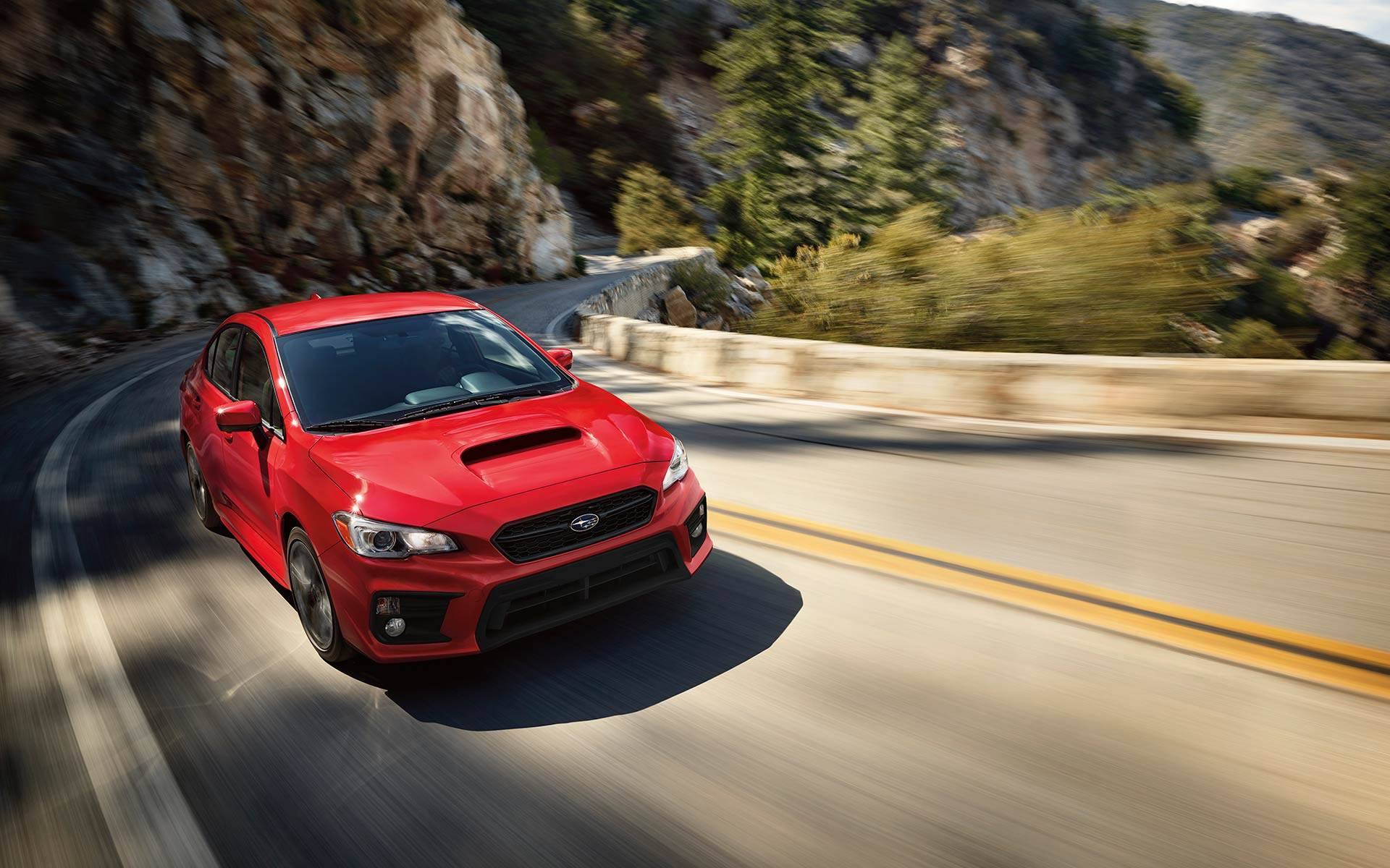 2018 Subaru WRX Red Front Driving Exterior