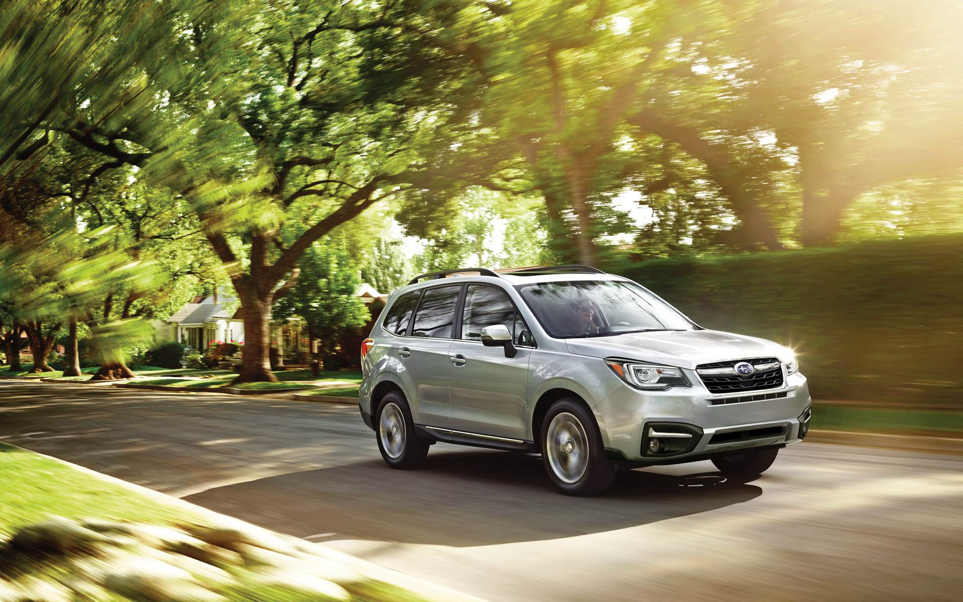 2018 Subaru Forester Ice Silver Exterior Front View