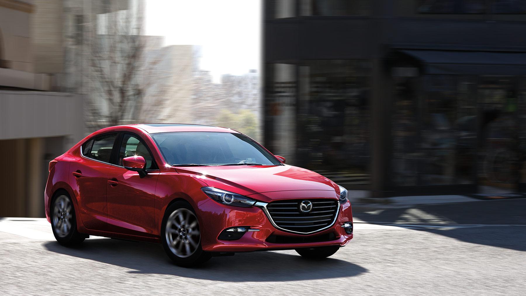 2018 Mazda 3 4-door Front Red Exterior