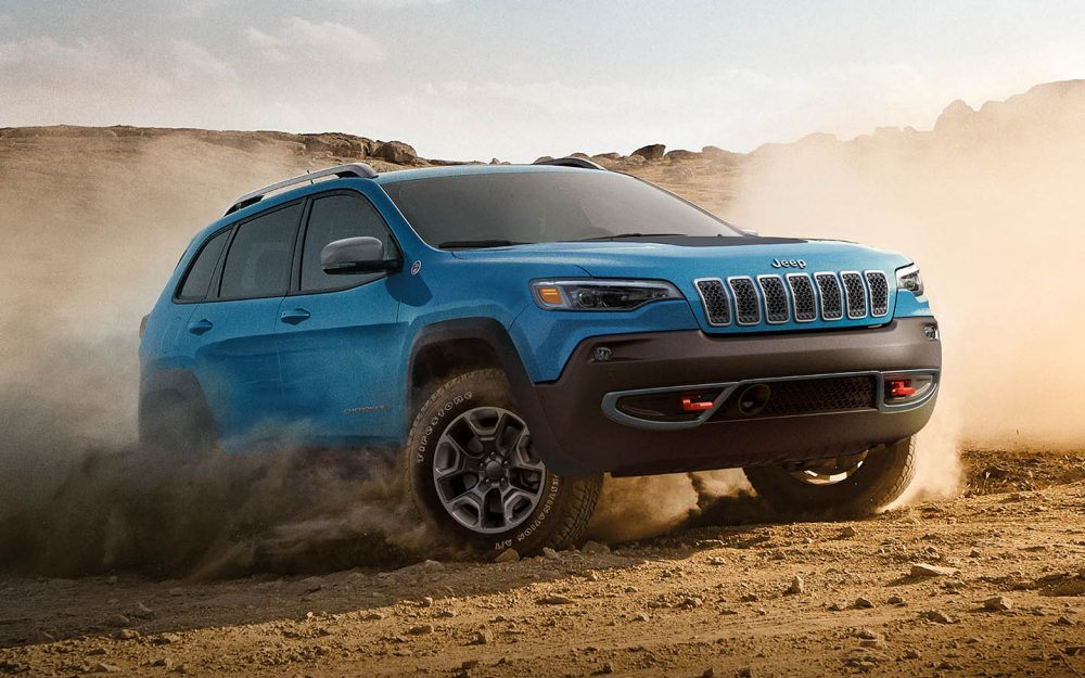 2019 Jeep Cherokee Blue Exterior Off Road