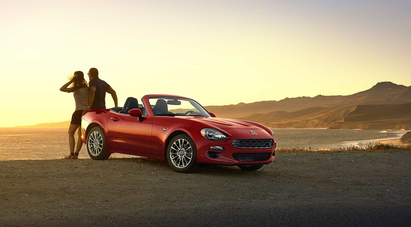 2018 FIAT 124 Spider Red Exterior Front and Side View