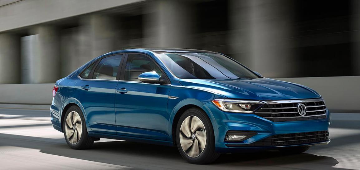 2019 Volkswagen Jetta Blue Front Exterior
