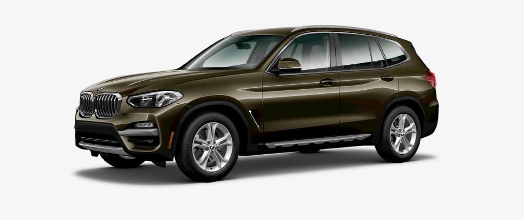 2019 BMW X3 Front Olive Exterior