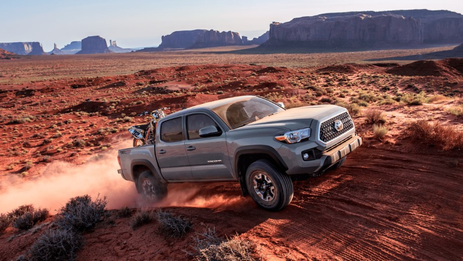2019 Toyota Tacoma Front Driving Silver Exterior