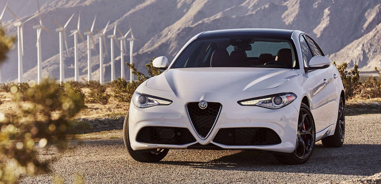 2019 Alfa Romeo Giulia White Exterior Front View Picture