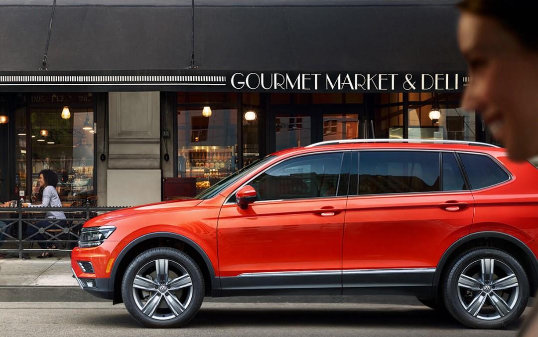 2019 Volkswagen Tiguan Orange Parked Exterior