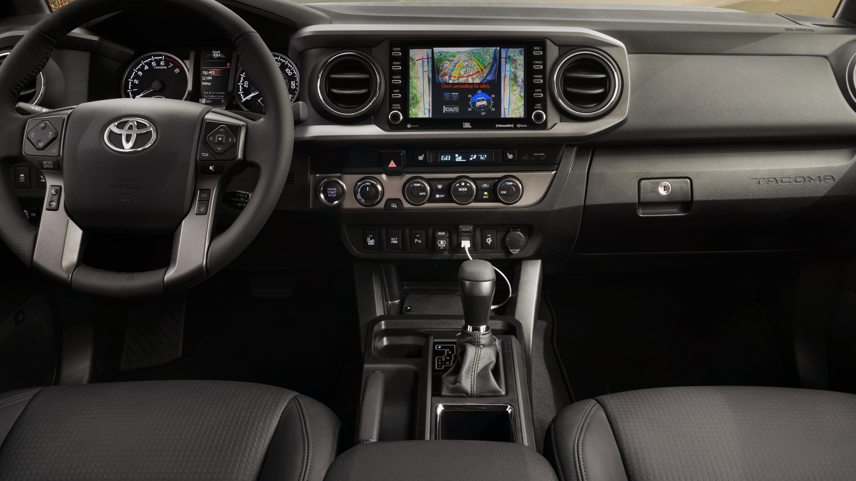 2020 Toyota Tacoma Front Interior Dashboard Picture